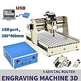 Macchina fresatrice CNC 3040 a 4 assi VFD USB Router 3D Engraver Milling Tool fresa