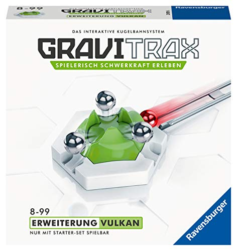 Ravensburger GraviTrax Erweiterung Vulkan - Ideales Zubehör für spektakuläre Kugelbahnen, Konstruktionsspielzeug für Kinder ab 8 Jahren