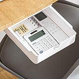 Xnuoyo Organizador cajones escritorio Organizador debajo del escritorio Caja Bolígrafos Almacenamiento Oculto bandeja autoadhesiva para lápices para oficina y escritorio bolígrafos(esconder)