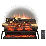 LegendFlame 23' W Free Standing Electric Fireplace Log Set (EF290), Heater 750W/1500W, Crackling Sound, Remote Control