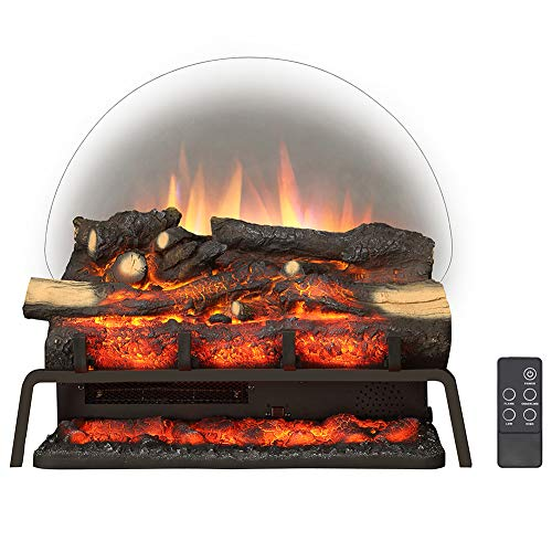 """LegendFlame 23"""" W Free Standing Electric Fireplace Log Set (EF290), Heater 750W/1500W, Crackling Sound, Remote Control"""