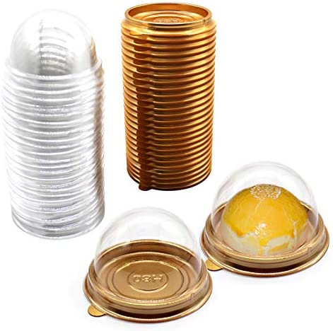Clear Plastic Mini Cupcake Container 50 PC Mooncake Boxes Muffin Pod Dome Muffin Single Cupcake product image