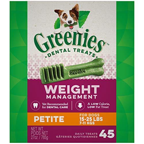 Greenies - Friandises dentaires Lite Gestion Poids pour Chien x45 Petit 765 g