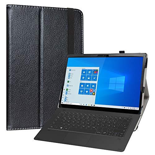 Labanem Funda para Lenovo Yoga Duet 7, Slim Fit Carcasa de Cuero Sintético con Función de Soporte Folio Case Cover para 13' Lenovo Yoga Duet 7 13IML05 Tablet - Negro