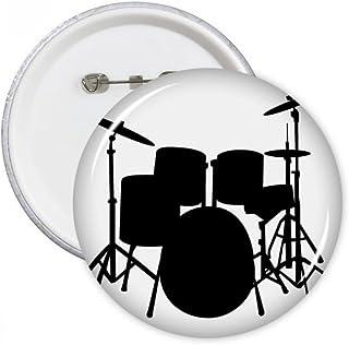 DIYthinker Chant, musique Drum Kit énergie ronde Pins Bouton Badge Vêtements Décoration de cadeau Multicolore XXL