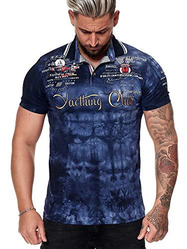 Herren T Shirt Yachting Club Poloshirt Polo Longsleeve Kurzarm Shirt Modell 3581 Navy L