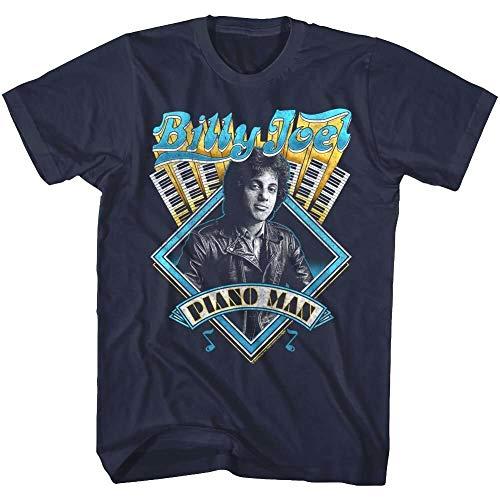 Billy Joel Piano Man Album Cover Art Mens T Shirt 80'S Pop Rock Tour Music Merch