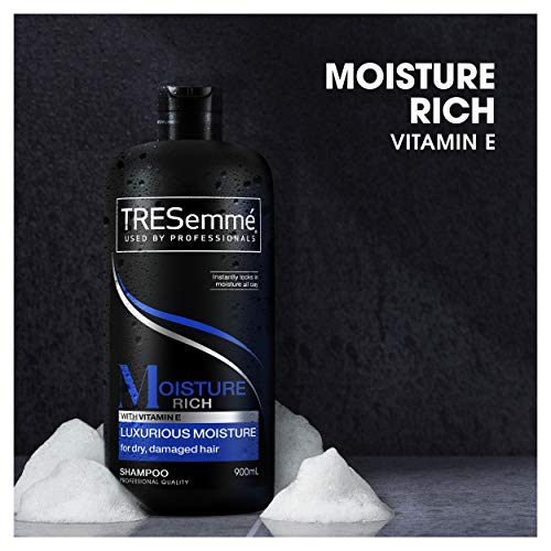 Tresemme Shampoo For Men And Women With Damaged And Dry Hair, Pack of 4 x 900ml - With Vitamin E