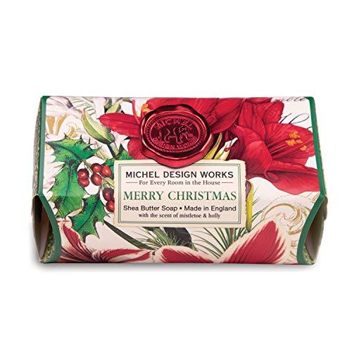Michel Design Works Large Bath Soap Bar - Merry Christmas