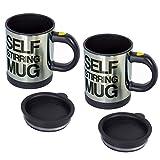 RETON 2 PCS Lazy-Self Stirring Mug Tasse de mélange de café Tasse de café de mélange automatique
