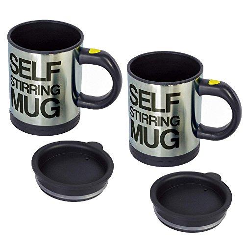Stonges 2 PCS Self Stirring Mug die selbstrührende tasse lazy mug Kaffee Mischbecher Automatische Mischen Kaffeetasse