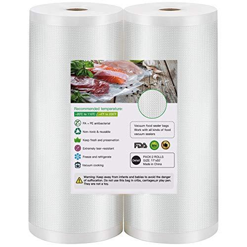 BoxLegend Vacuum Sealer Bags, 2 Rolls 11