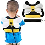 SNOWIE SOFT® Baby Safety Walking Harness, Child Toddler Anti-Lost Belt Harness Reins with Leash Kids Assistant Strap Angel Wings Travel Haress for 1-8 Years Boys and Girls (Blue)