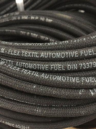 Kraftstoffschlauch Benzinschlauch Dieselschlauch Ø 6mm mit Textilumflechtung