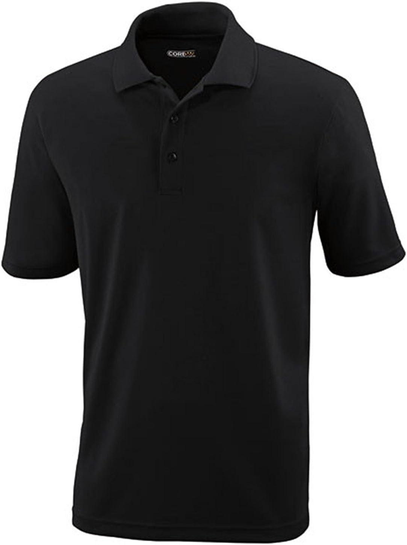 Core 365 Mens Origin Tall Performance Piqué Polo (88181T) -BLACK 703 -3XL