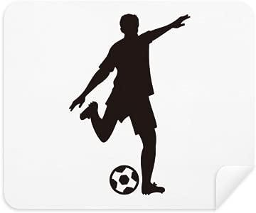 DIYthinker Football Soccer Silhouette Sports Phone Screen Cleaner Glas...