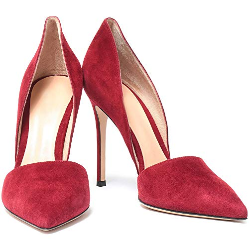 Kabxhueo Rhinestones Ante Tacones Zapatos De Tacón Altos Para Damas Fiesta Zapatos...