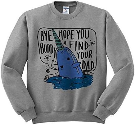 TeesAndTankYou Bye Buddy Christmas Sweatshirt Unisex