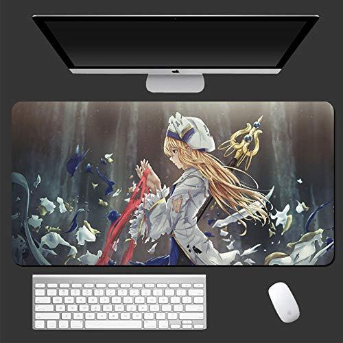 POWARM Tapete Escritorio,Anime Belleza Grande Alfombrilla De Ratón Resistente Al Agua Antideslizante Base De Goma Costura Portátil Computadora Oficina Escritorio Teclado-900X400X3Mm_017