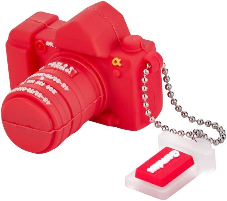GARRULAX USB Flash Drive, 8GB / 16GB / 32GB USB2.0 Cute Shape USB Memory Stick Date Storage Pendrive Thumb Drives(16GB , Red Camera)