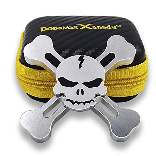 DoDoMagxanadu Skull Hand Fidget Spinner Metal Spinner Toy Focusing Fidget Toys Relievers Stress and Anxiety for Kids & Adults with ADHD Autism(Sliver)