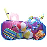 POOL BLASTER Water Tech Pool Pouch – Versatile Pool Organizer for Floats, Balls, Inflatable Toys, Patio Accessories and More. Heavy Duty Reinforced attaches to Pool Side, Fence or Free Standing