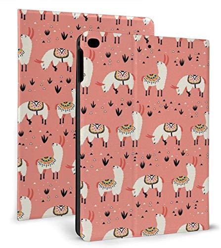 Llama Grass Cute PU Leather Smart Case Auto Sleep/Wake Feature for IPad Mini 4/5 7.9'& IPad Air 1/2 9.7' Case