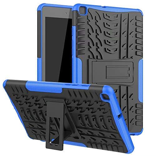 XITODA Custodia per Samsung Galaxy Tab A 8.0 2019, Hybrid Silicone & PC Protezione Cover per Samsung Galaxy Tab A 2019 8.0 Pollici SM-T290 T295 T297 Custodia con Kickstand Blu Scuro