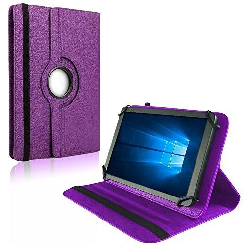 NAUC Tablet Hülle für Blaupunkt Atlantis Discovery 1001A Tasche Schutzhülle Hülle Cover, Farben:Lila