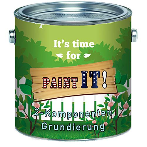 Paint IT! lange termijn 2K grondlaag mat incl. Verharder in set kleurkeuze wit grijs zwart 10 L Lichtgrijs Ral 7035