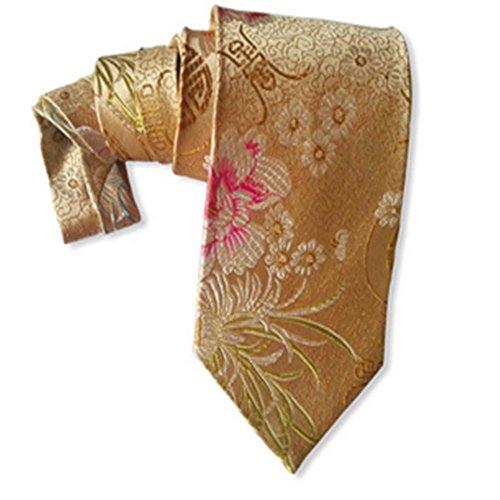 Seidene Krawatten Apricot Yellow Peony Silk Tie Krawatte