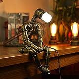 Lampe robot au style rétro industriel Lampe de bureau Lampe de chevet, A 36.0W