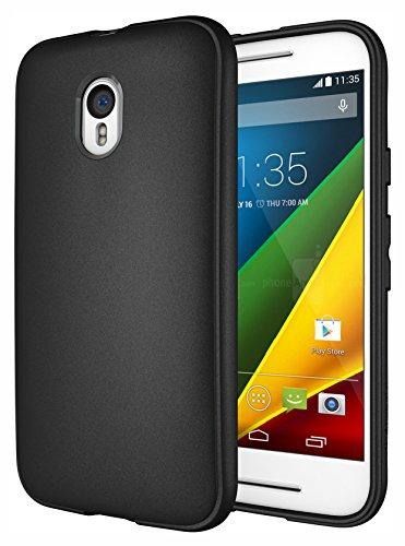 Moto G 3rd Gen Case, Diztronic Full Matte Slim-Fit Flexible TPU Case for Motorola Moto G (3rd Generation) 2015 - Black (MG3-FM-BLK)