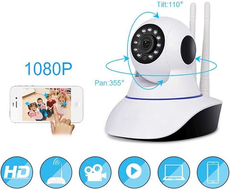 Cámara IP HD P LED IR LAN inalámbrica Wi-Fi motorizada Antenas Internet
