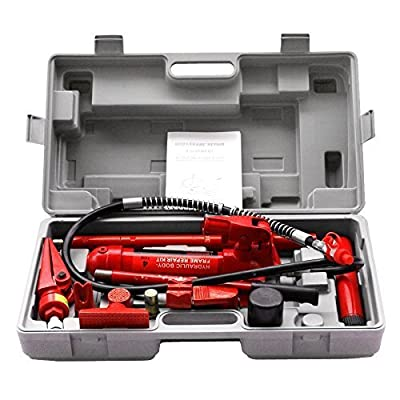 Super Deal Red Porta Power Hydraulic Jack Body Frame Repair Kit Auto Shop Tool
