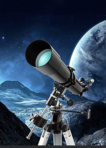 Professionale astronomico Telescopio Rifrattore per adulti, regolabile Treppiede, Viaggi Scope per osservare Luna e Planet 3 Oculari