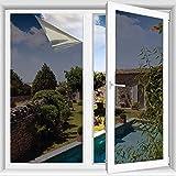 TTMOW Vinilo para Ventana, lámina de Espejo con Protector Solar y Protector de privacidad Anti 99% y Anti 85% IR