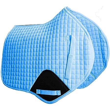 CLEARANCE Gallop Prestige Quilted Dressage Saddle Pad Saddle ClothSKY BLUE