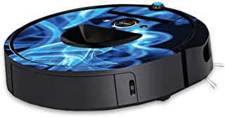 MightySkins Skin Compatible with iRobot Roomba i7 Robot Vacuum - Blue Flames | Protective, Durable, and Unique Vinyl Decal...