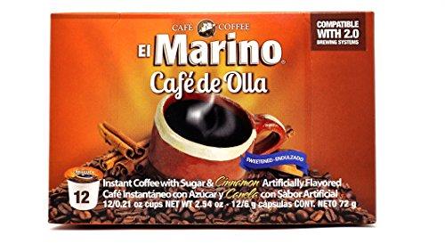 El Marino Cafe de Olla Capsules, Sugar & Cinnamon, 12 Count