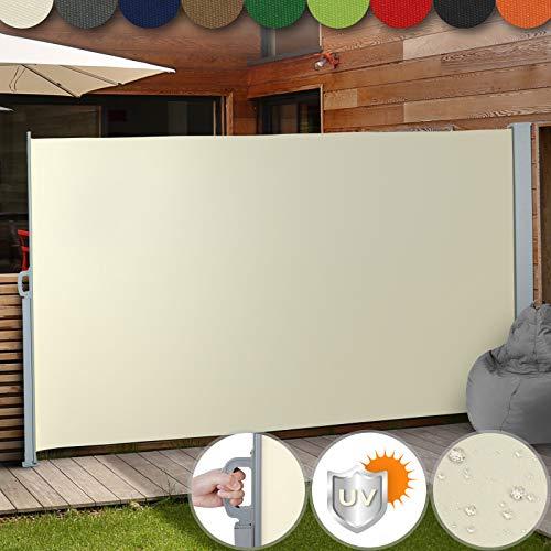 Toldo Lateral Retráctil - Color y Tamaño a Elegir: 160x300cm, 180x300cm, 200x300cm - Protección de la Intimidad, Persiana Lateral, Protección Solar para Jardín, Terraza y Balcón