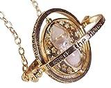 H&H UKTM Retourneur de Temps doré et Blanc Pendentif Pochette Cadeau en Velours Rouge