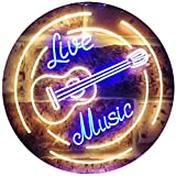 ADVPRO Live Music Guitar Band Room Studio Dual Color LED Neon Sign Blue & Yellow 12' x 8.5' st6s32-i2546-by