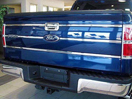 QAA fits 2009-2014 Ford F-150 6 Piece Stainless Tailgate Insert Trim, 0.875