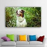 ganlanshu Pintura sin Marco Perro Lindo Animal Imagen decoración Pintura Sala de Estar Mural decoración del hogarZGQ5400 40X70cm