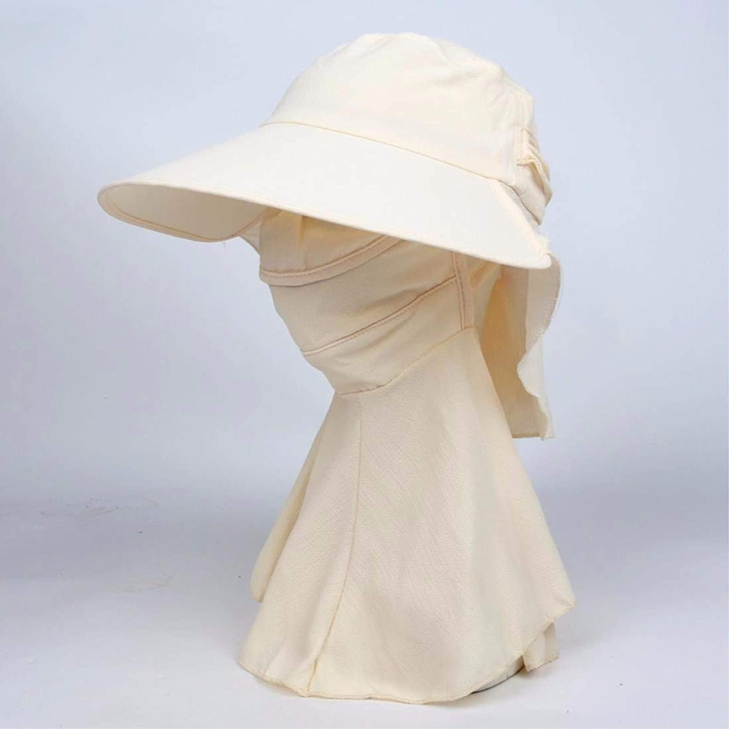 Beach Hat Women's Hats Summer Outdoors AntiUv Bike Caps Visor Caps Face Caps White Summer Sun Hat