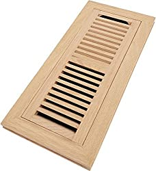 vent covers for lfloors - unfinished red oak flush registee