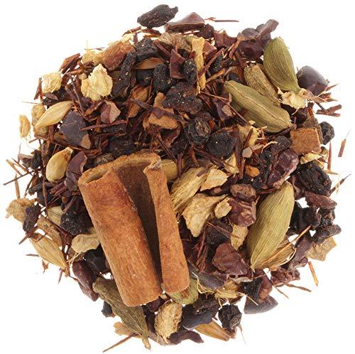 AURESA Ayurveda Tee Gemütswärmer   Kräutertee mit Rooibos, Kakao-Stücken und Zimt   Gute Laune Mischung für die Tasse