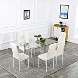 Bonnlo 7 Pieces Dining Table Set Kitchen Dinner Table...