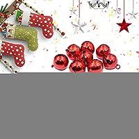 クリスマスジングルベル50個ジングルベルDiyジュエリージュエリークリスマスのために作る(Red+blue)